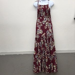 Free people burgundy floral maxi dress